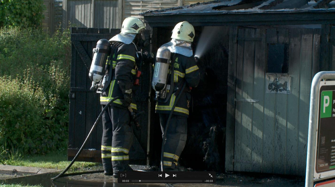 TV : Brand i miljøcontainer i Dalegade