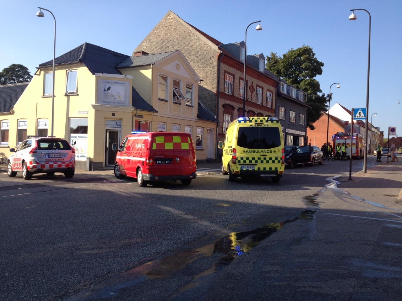 Mindre sammenstød i Norgesgade