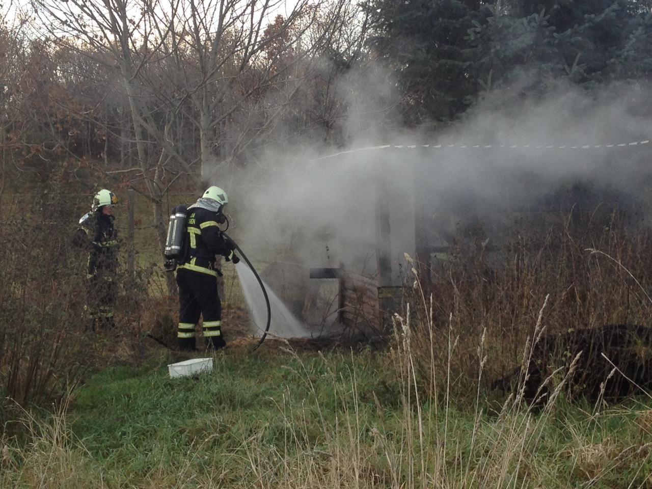 Brand i skur på Nymarksvej