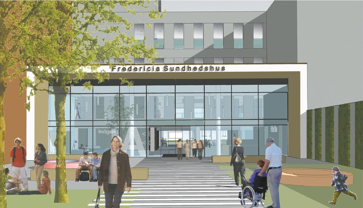 Nyt indgangsparti forvandler sundhedshuset