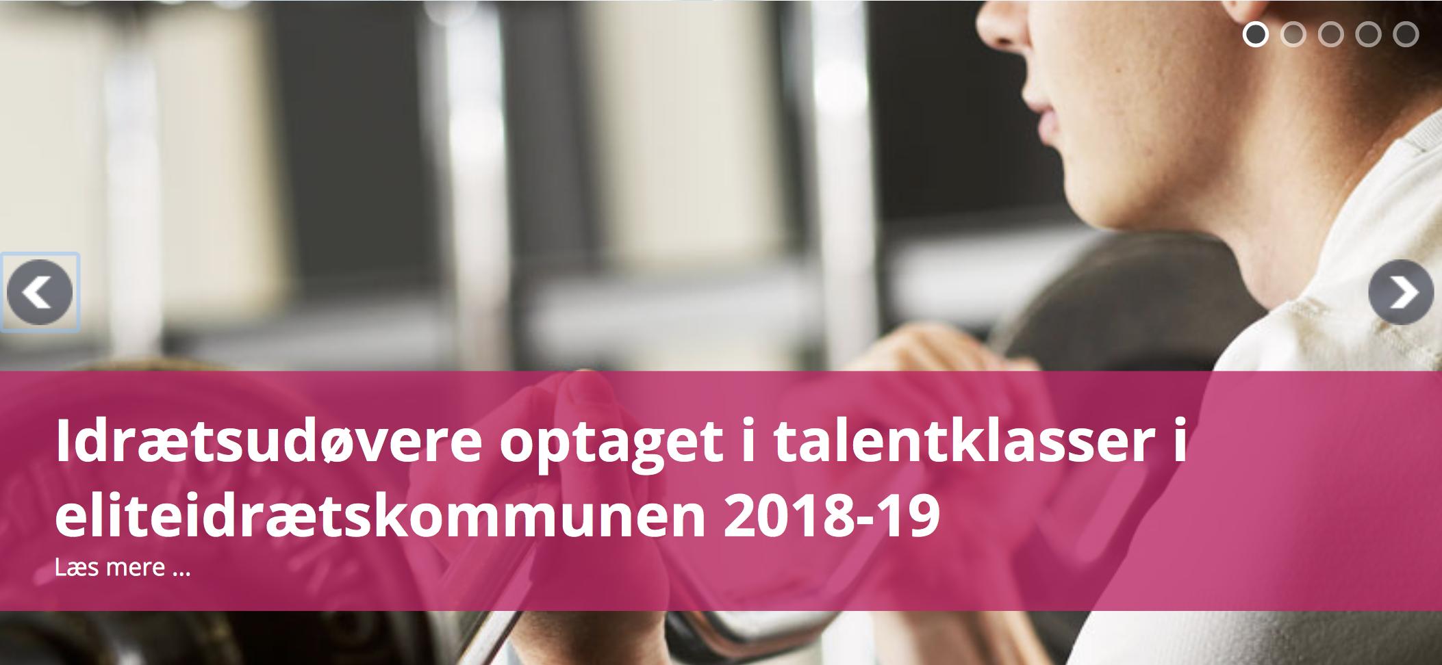OPTIMALE RAMMER FOR TALENTTRÆNING : TALENTKLASSER FOR ÅR 2018/19 ER NETOP OFFENTLIGGJORT
