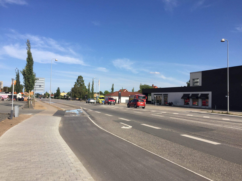 MOTORCYKLIST IMPLICERET I FÆRDSELSUHELD PÅ VEJLEVEJ