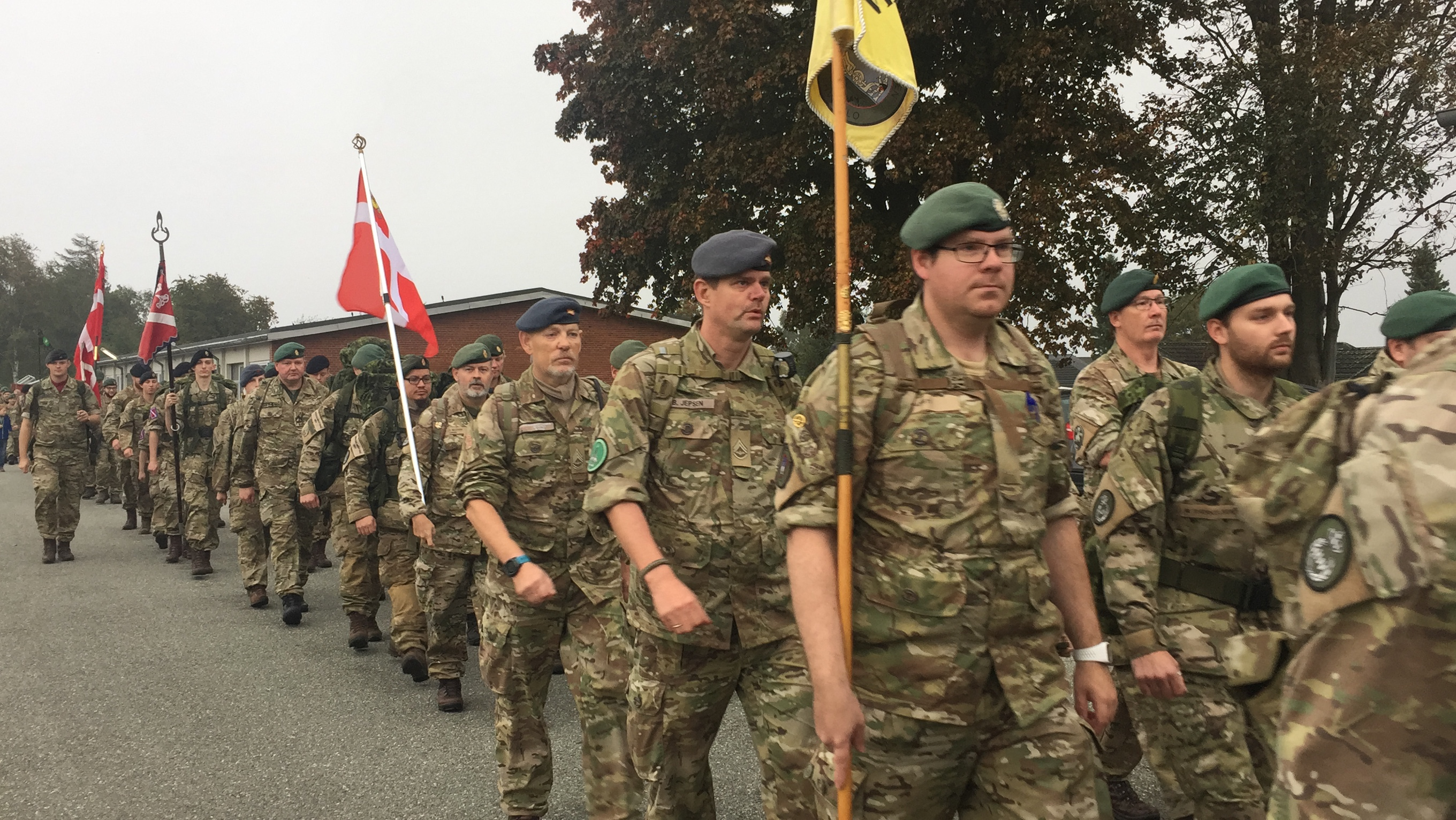 MEDALJEMARCH 2018 – SOLDATER OG CIVILE GIK MARCH I FREDERICIA