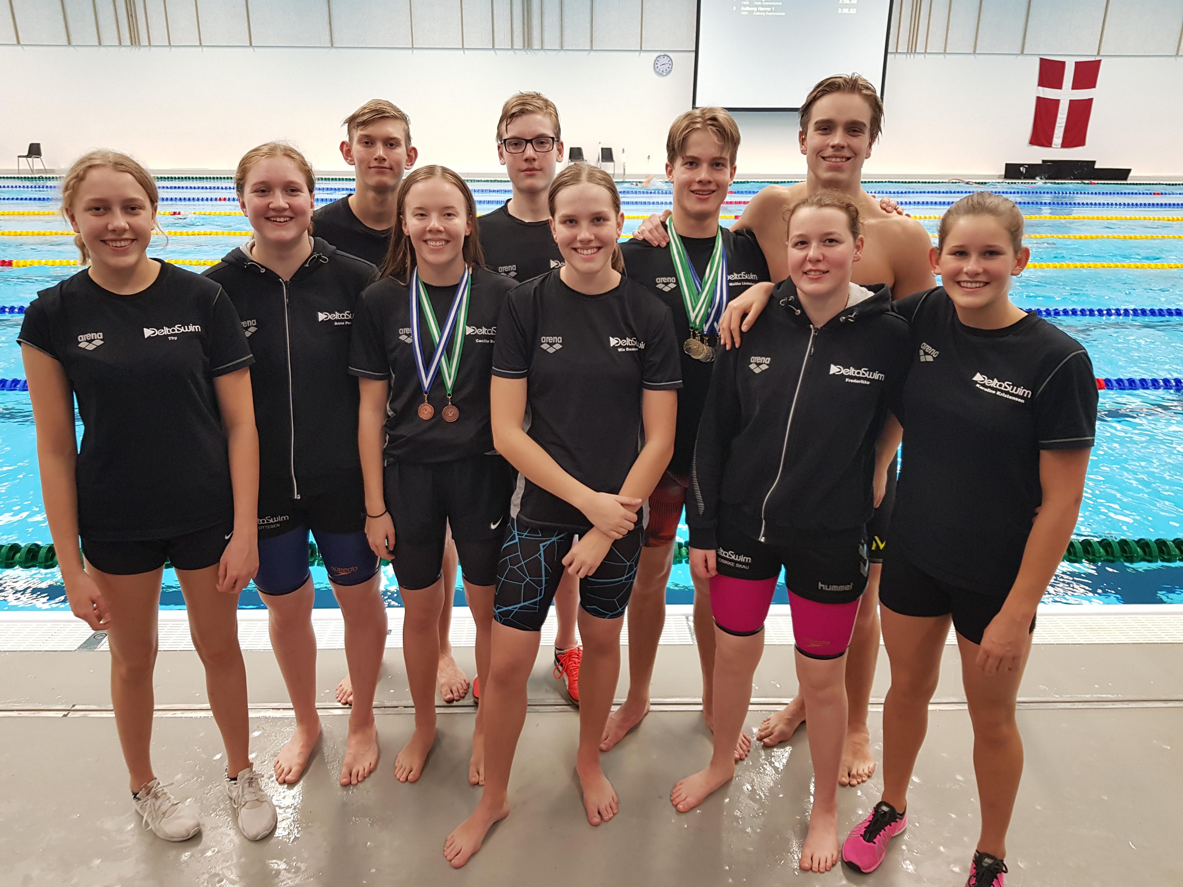Deltaswim havde 10 svømmere med til Vestdanske mesterskaber