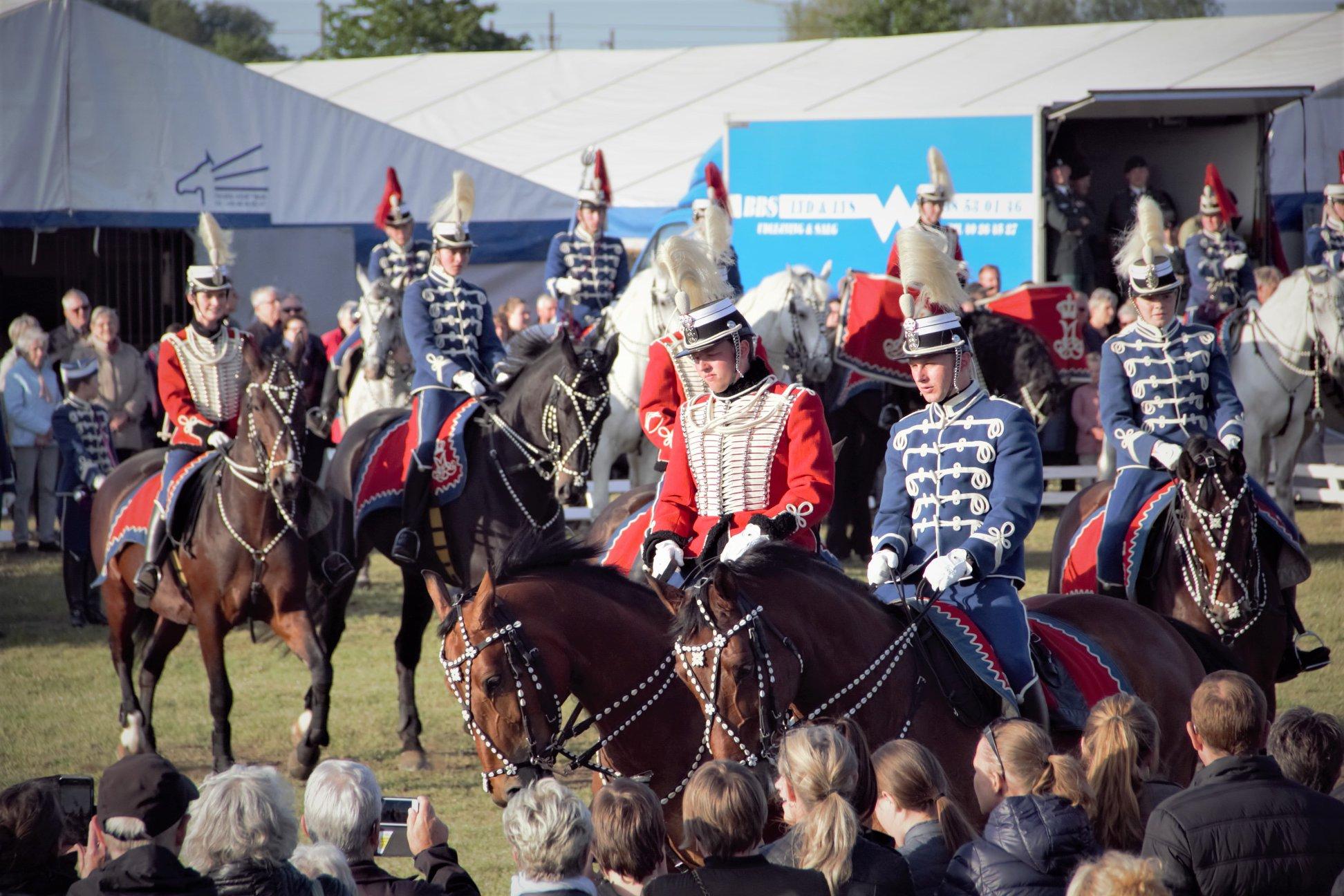 Gardehusarregimentets hesteskadron besøger Fredericia