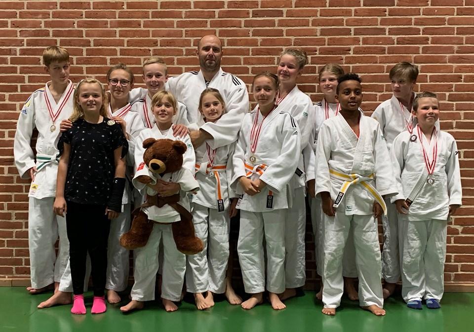 Judo og Ju-jutsu Klub trak fire guldmedaljer med hjem fra stævne