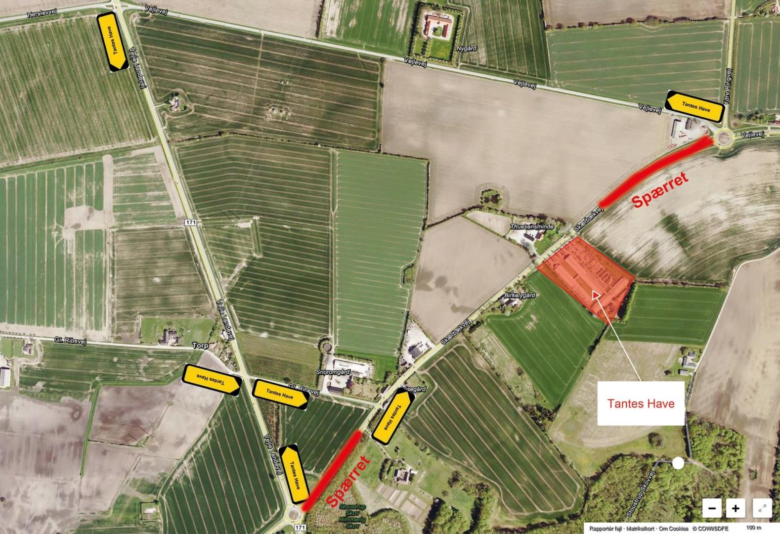 Skærbækvej spærres – Se omkørsel på kortet