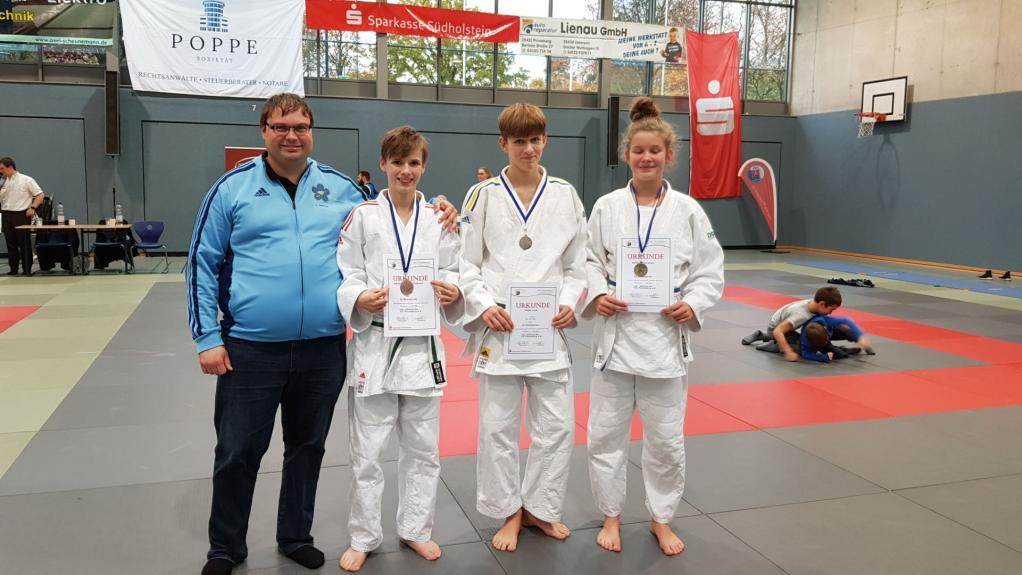 Lokale judokæmpere fik flotte medaljer ved tysk stævne