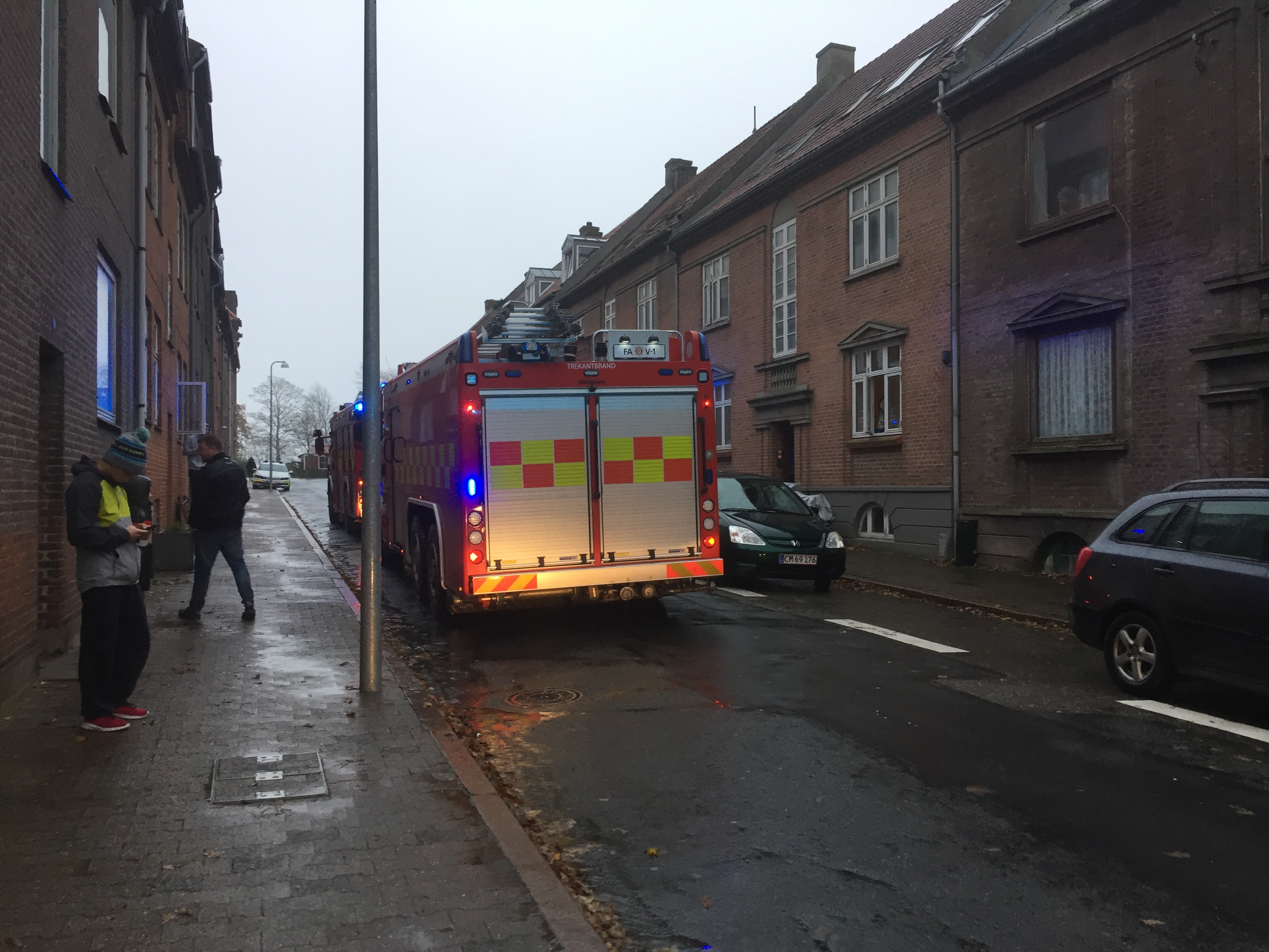 Brandvæsnet hastede til Falstersgade