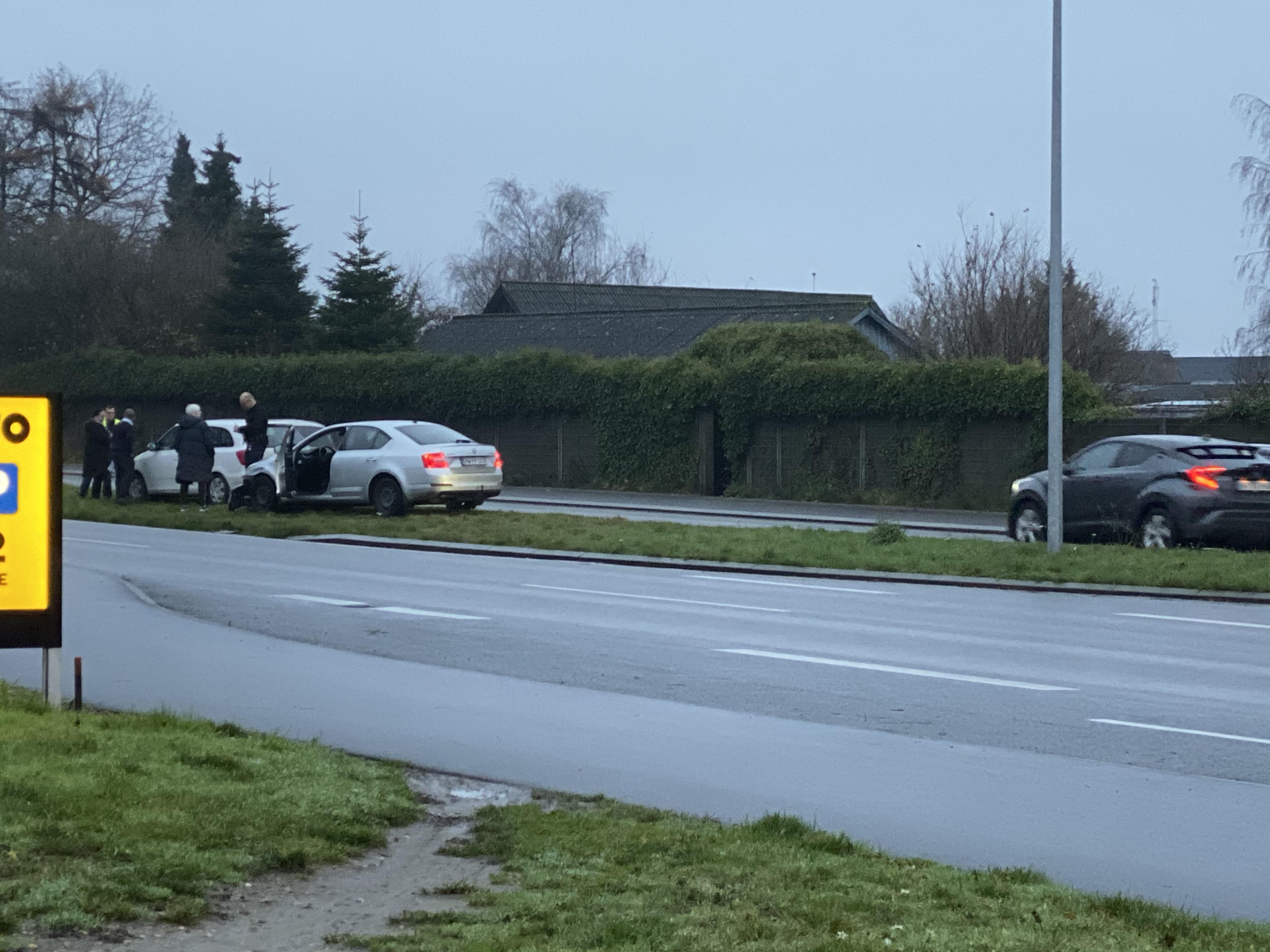 Mindre trafikuheld på Snoghøj Landevej i morgentimerne