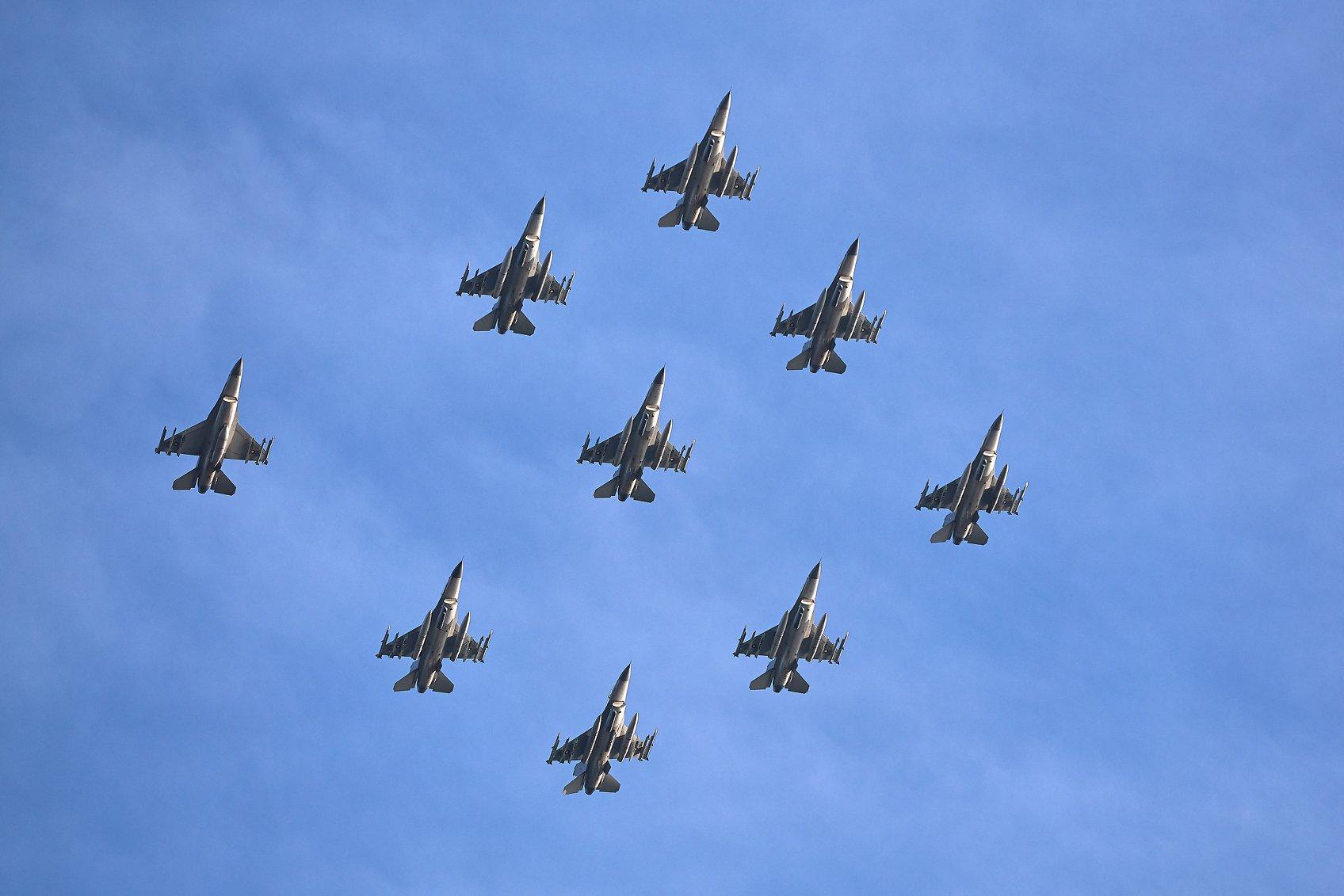 Flyvevåbnet markerede 40-års jubilæum for F-16-Fly i Danmark