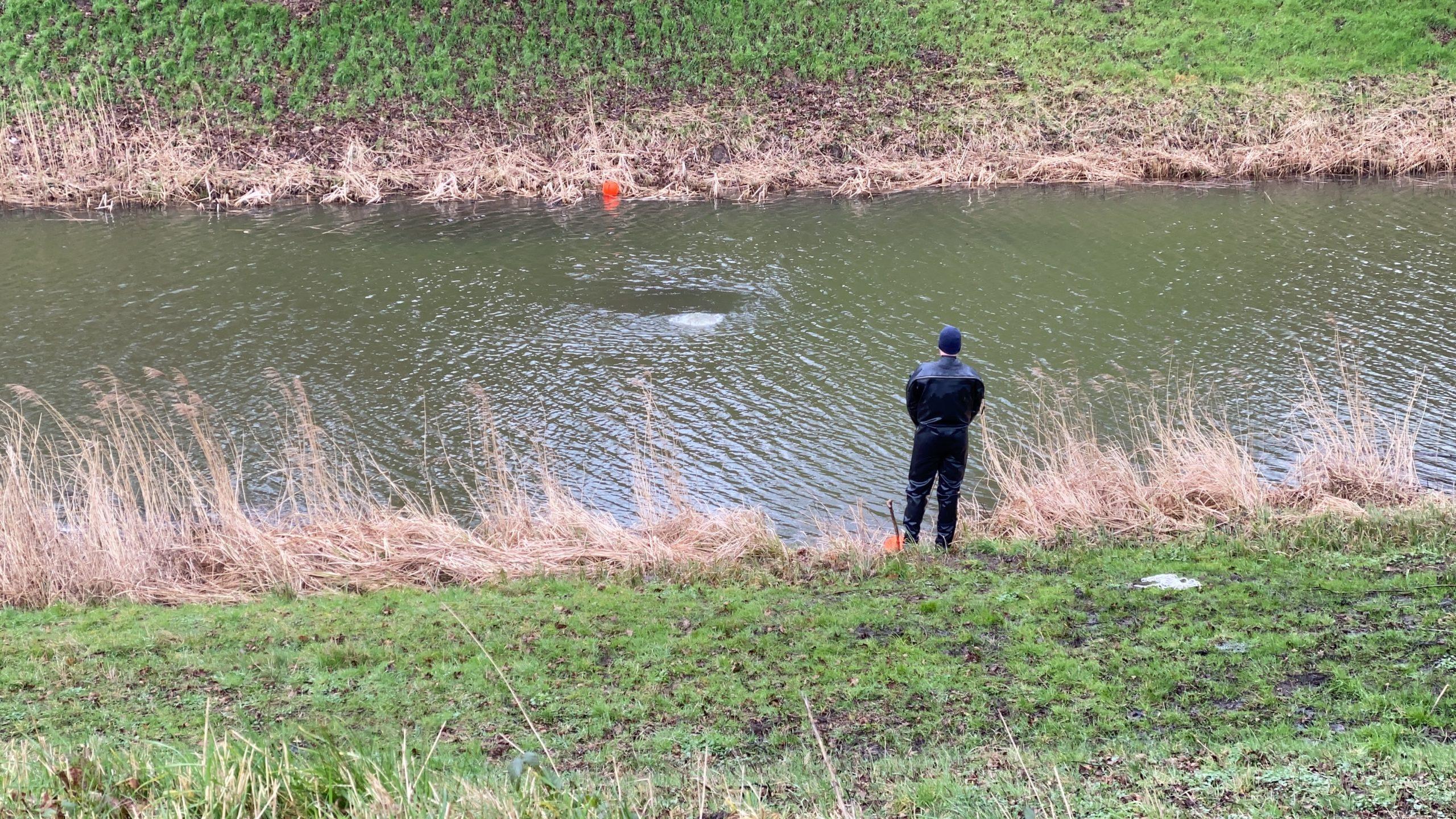 Søgning i voldgraven i Fredericia er afsluttet