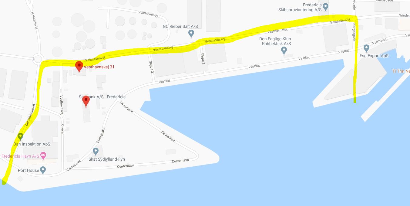 Dele af Fredericia Havn afspærret som følge af udslip