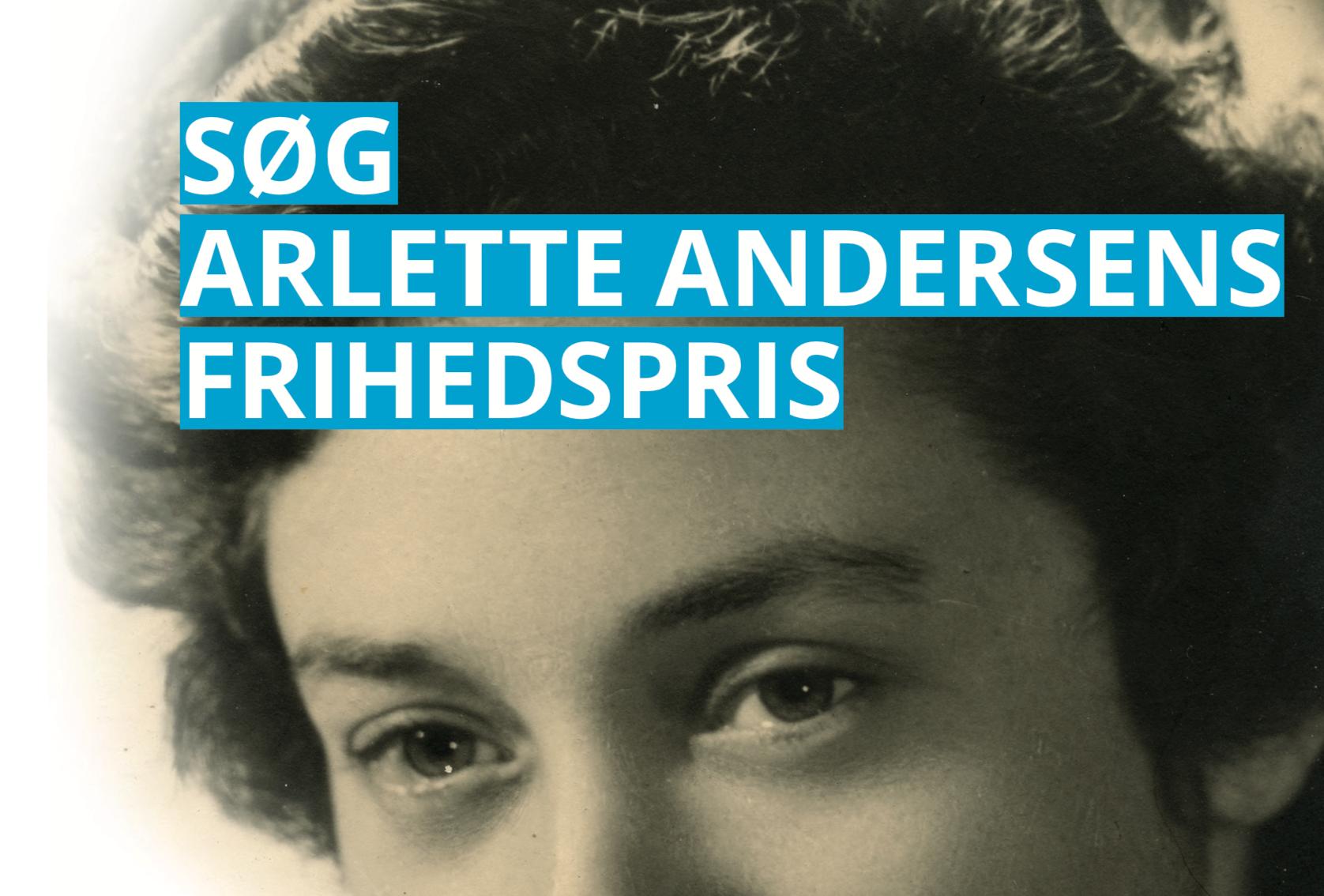 Uddeling af Arlette Andersens Frihedspris udsættes ikke