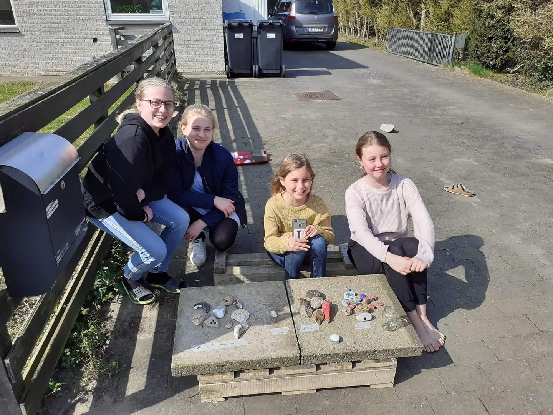 Piger lavede bod med malede sten – solgte for tæt på 6.000 kr. til formål for Skærup Zoo