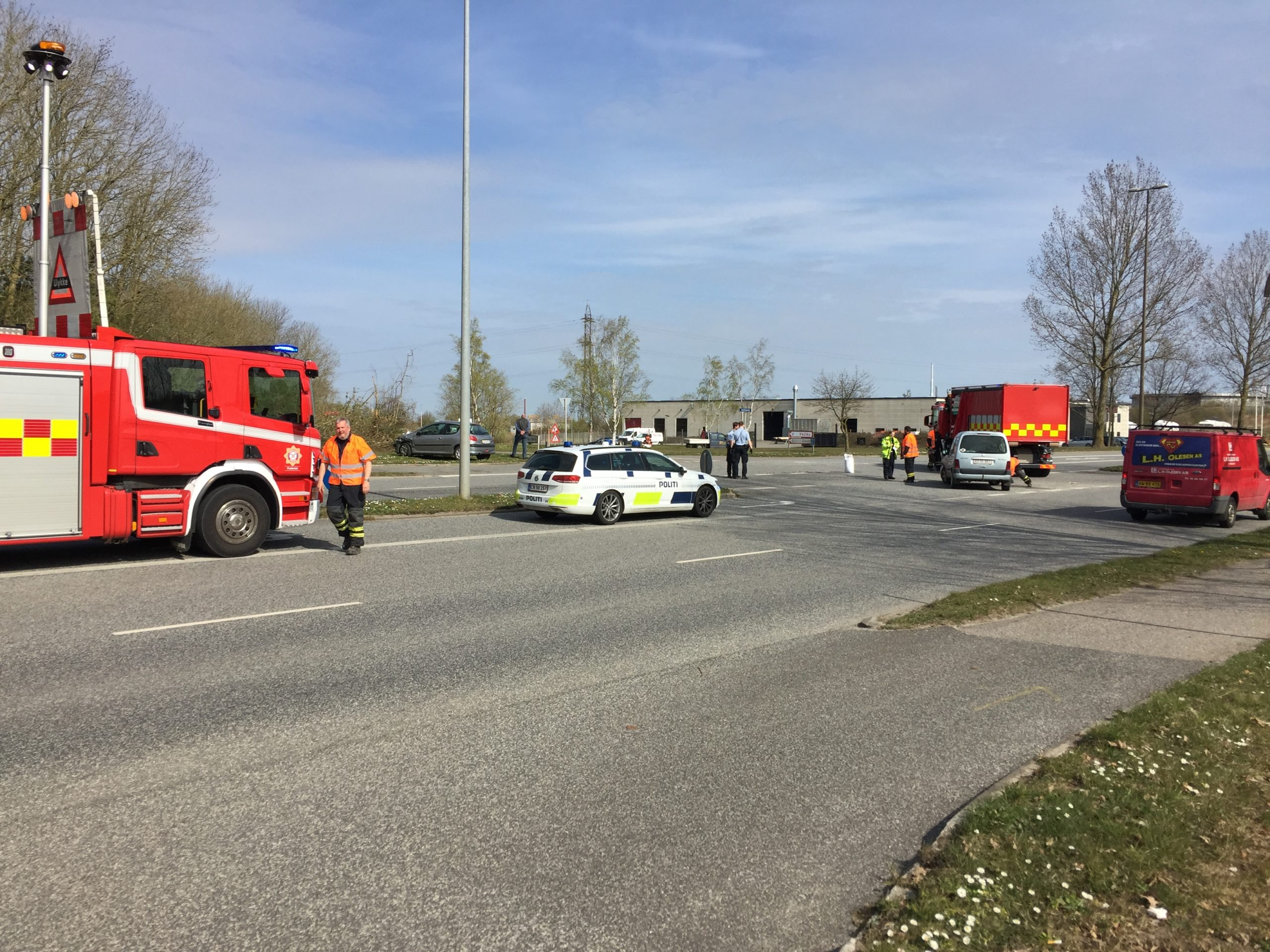 Trafikuheld på Vestre Ringvej – onsdag middag