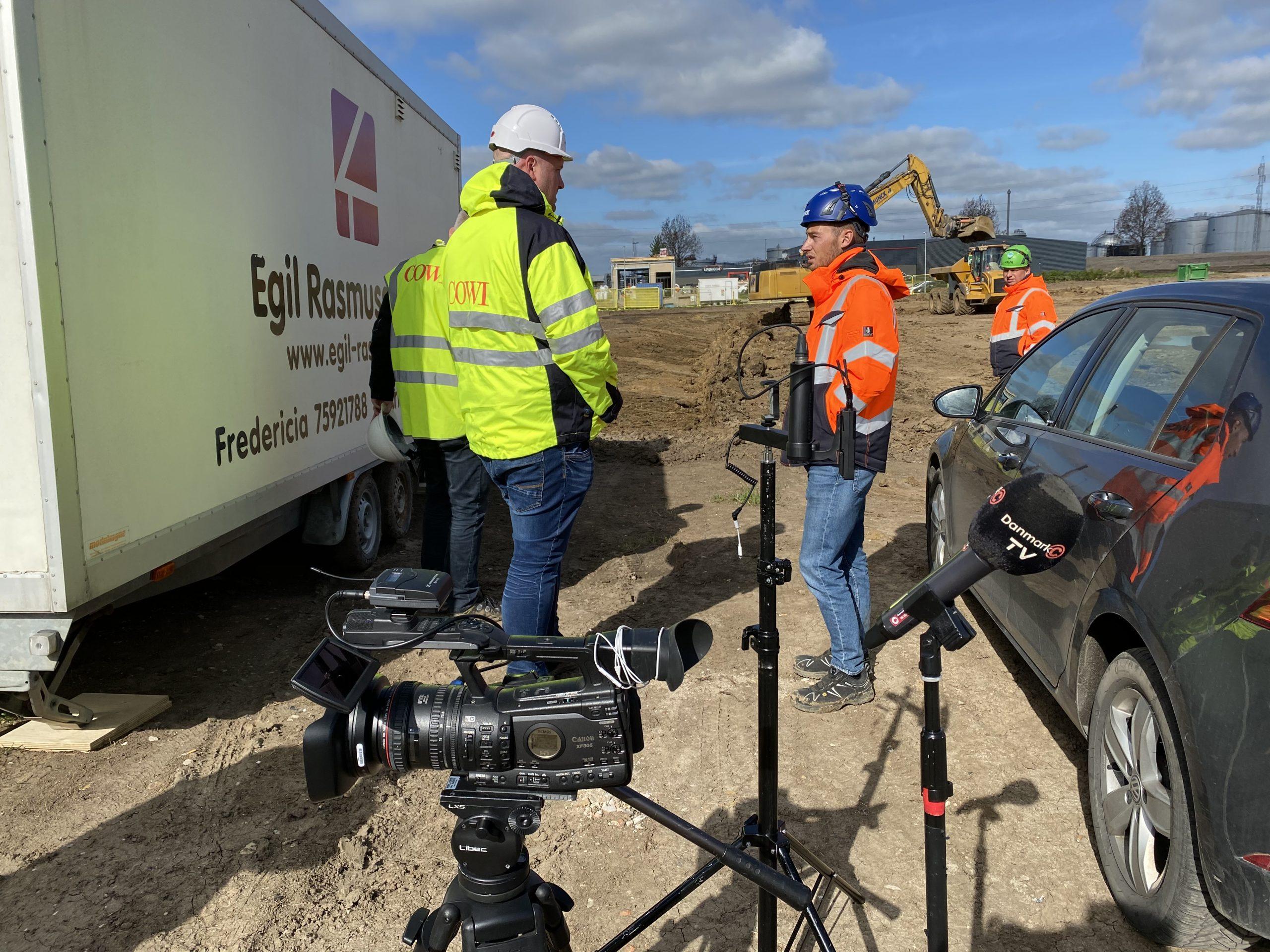 Se TV-infdslag: Første spadestik til nyt genbrugscenter på Nordre Kobbelvej