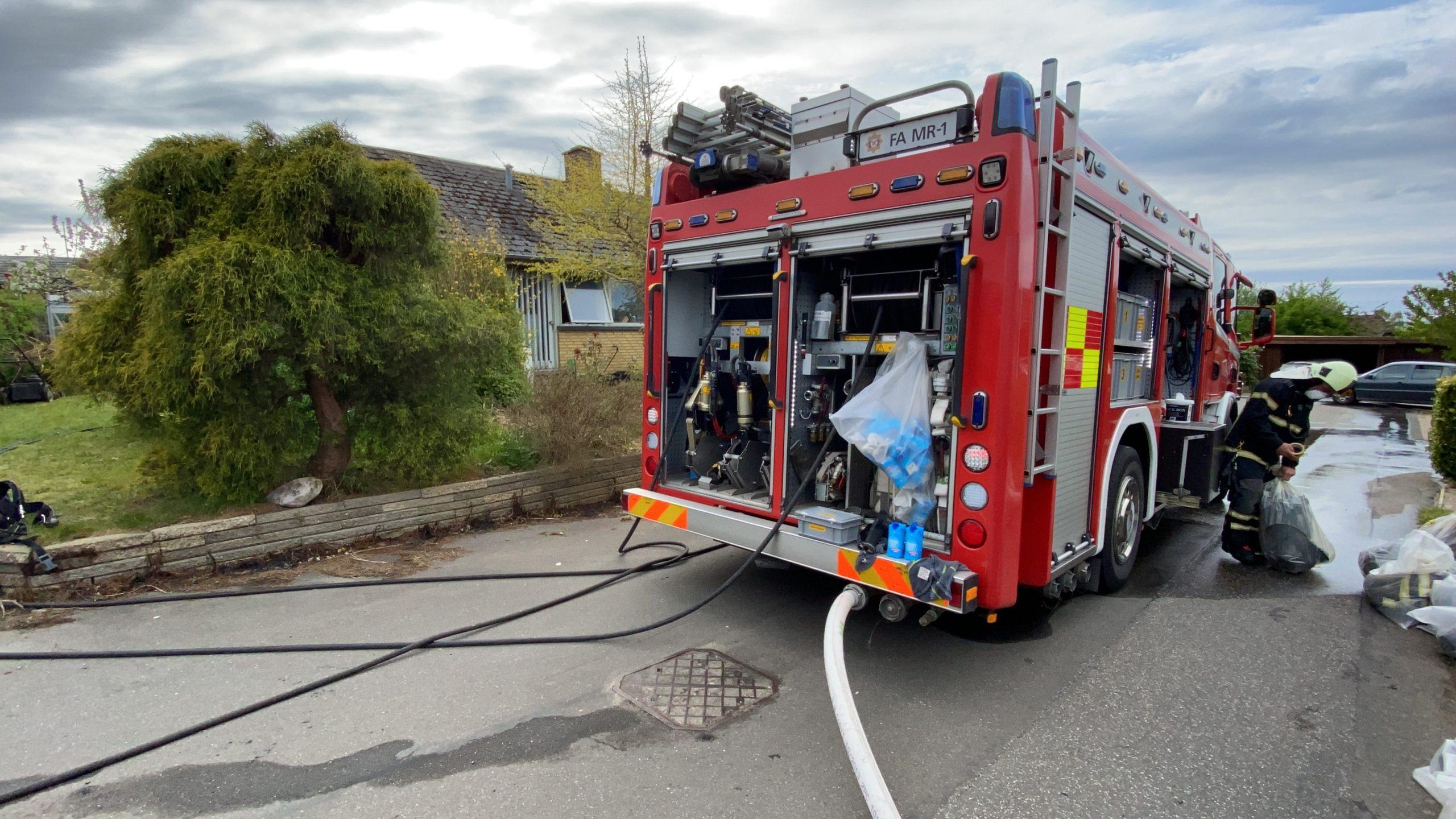 Ukrudtsbrænder satte ild  i villa ved Trelde