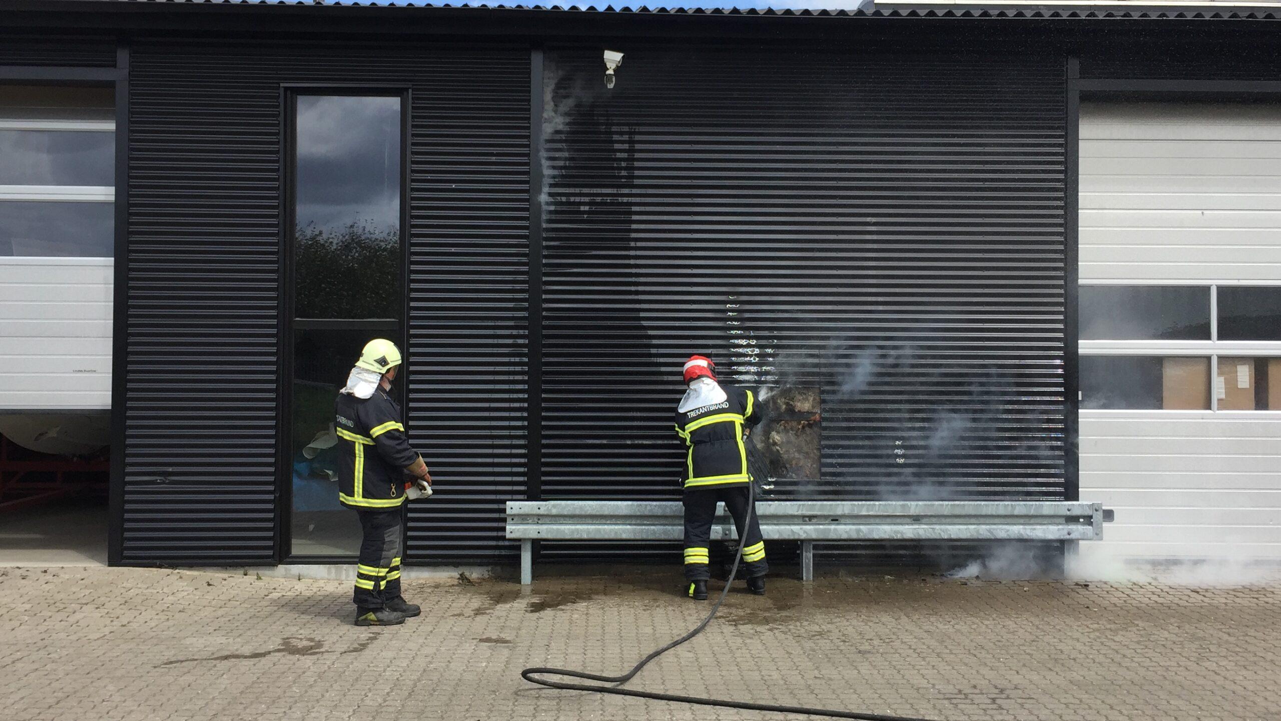 Ild i virksomhed på Gl. Landevej i Erritsø