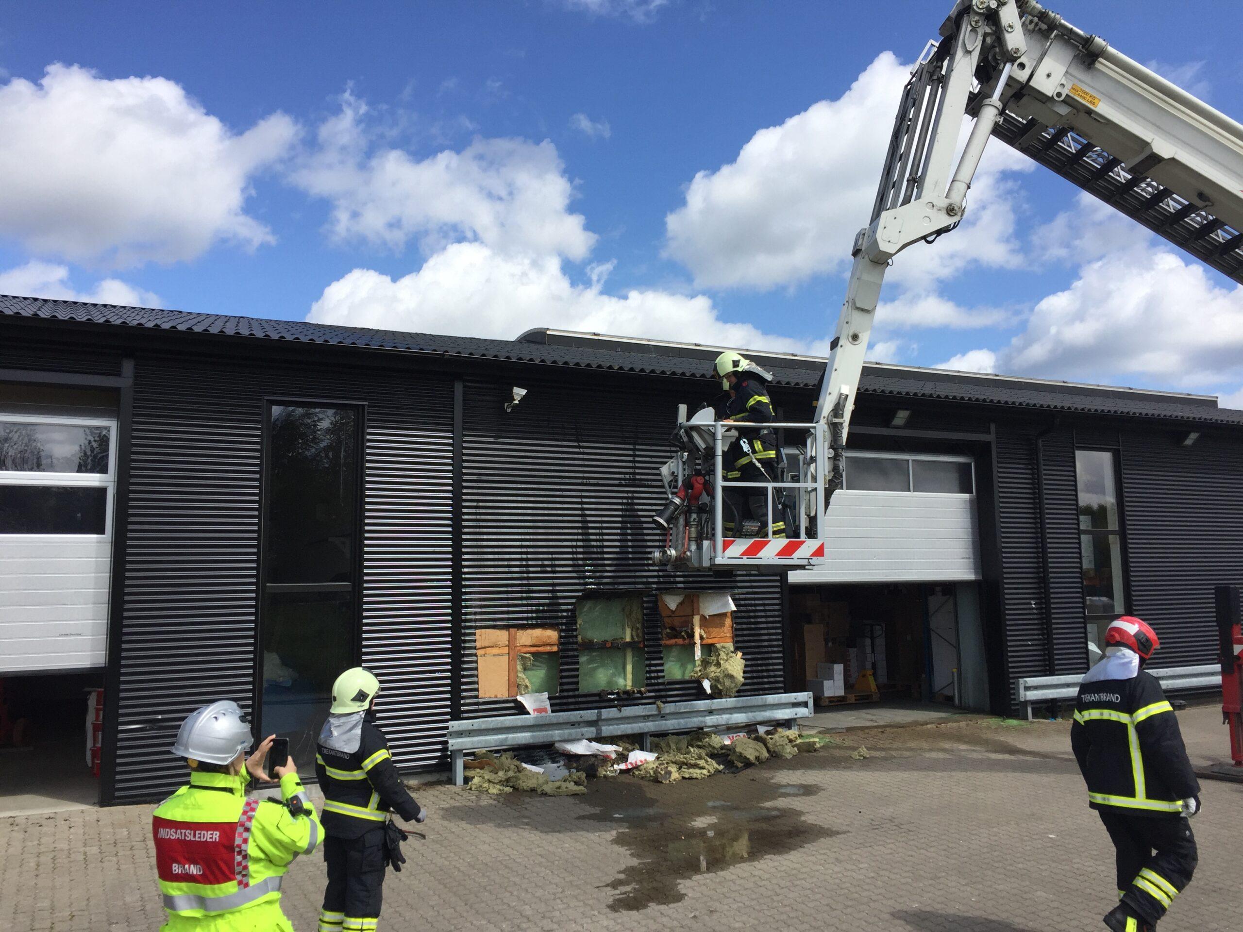 Ukrudtsbrænder skyld i brand i Erritsø