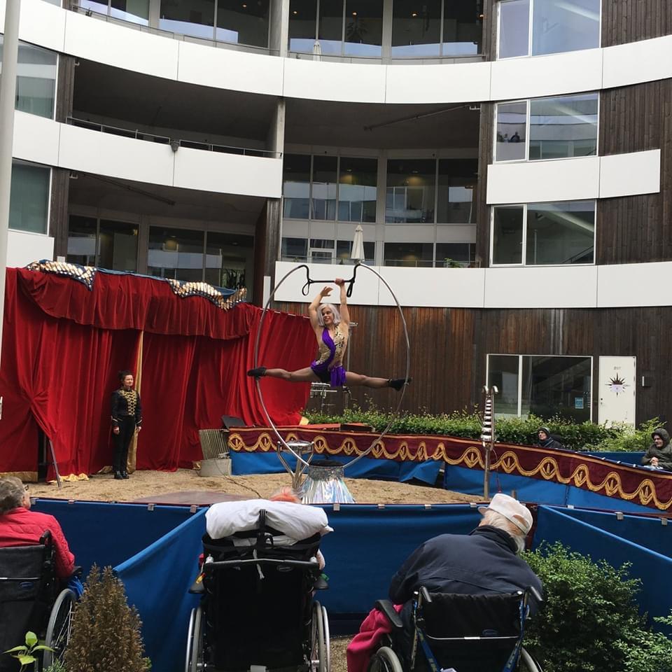 Cirkus besøgte Plejecenteret Othello