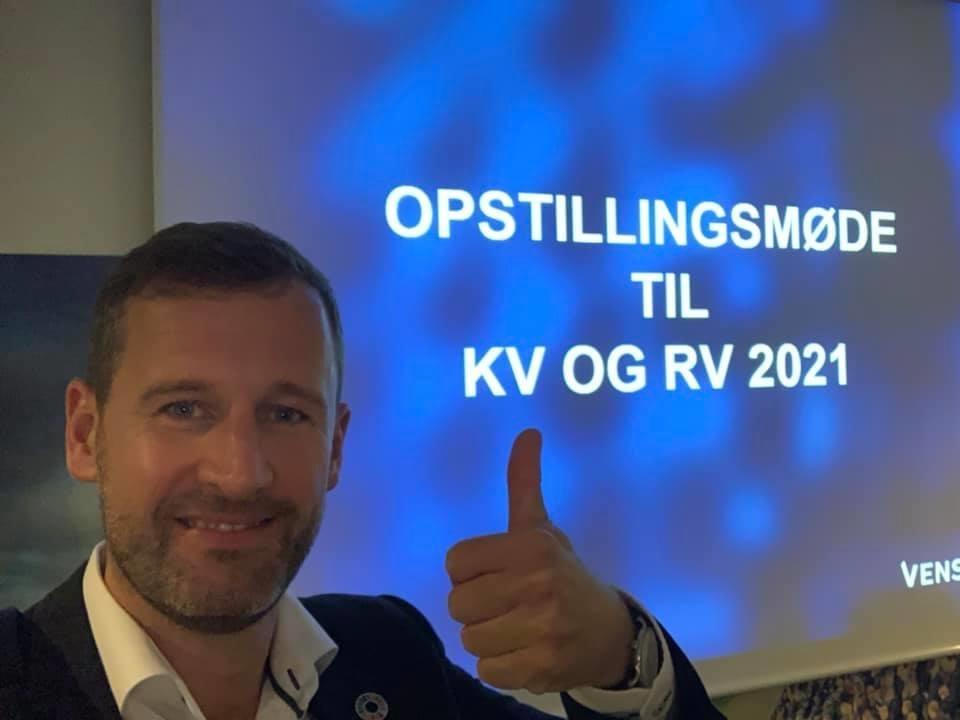 Peder Tind er nu officielt spidskandidat for Venstre ved KV21 – for Fredericia