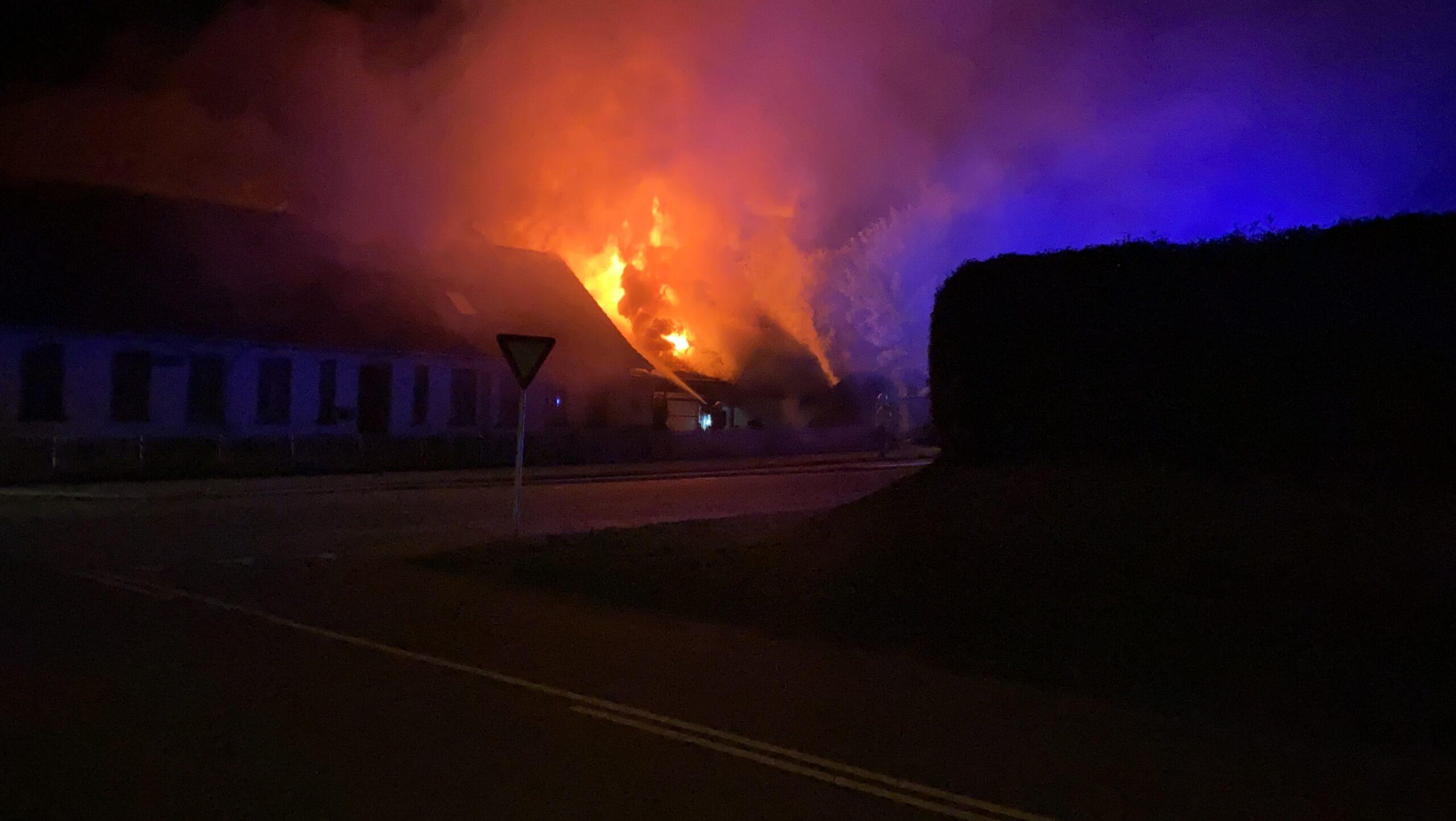 Stor villabrand på Skærbæk Ringvej 123 i Skærbæk