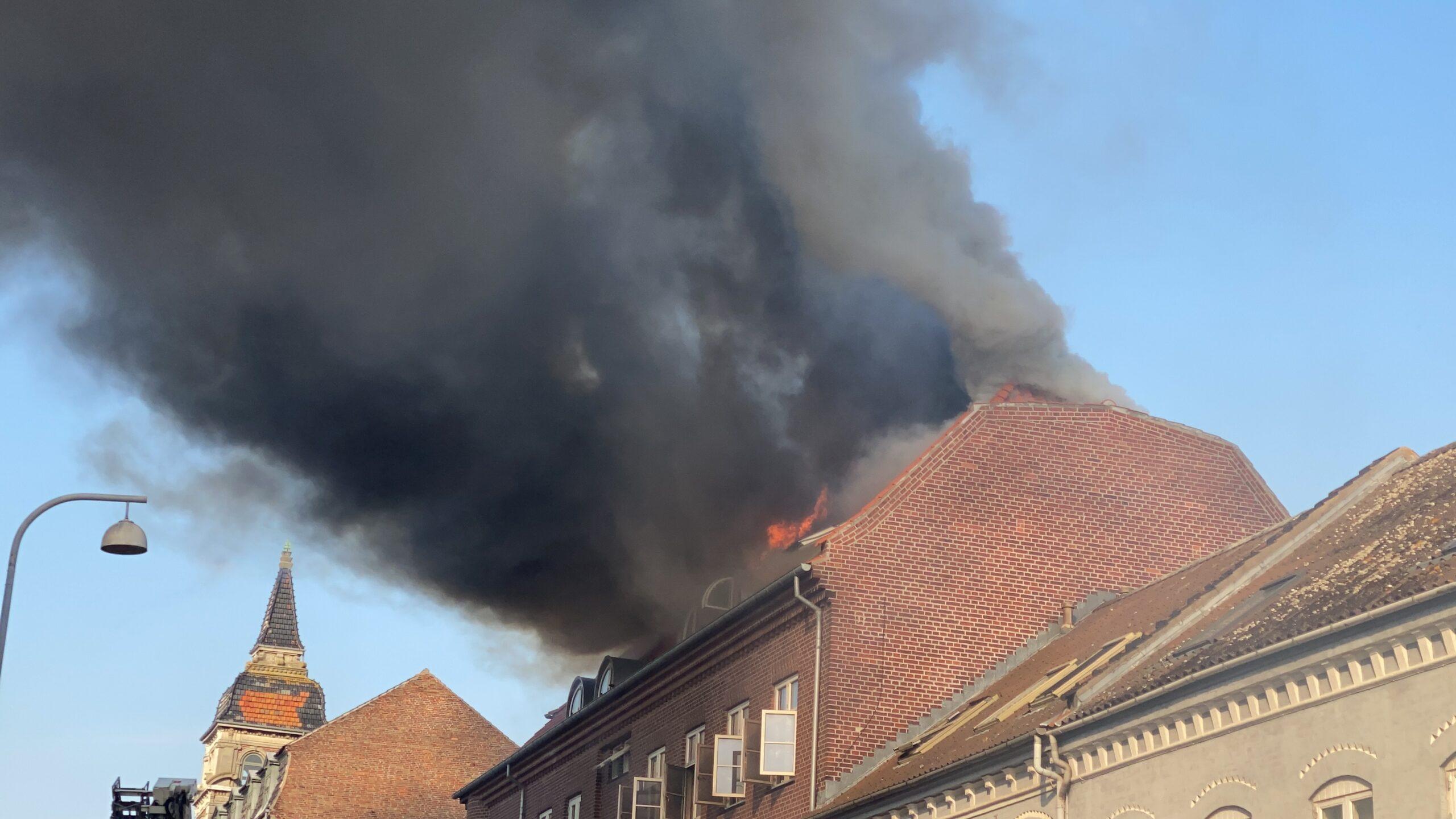 Brand i lejlighed i Jyllandsgade