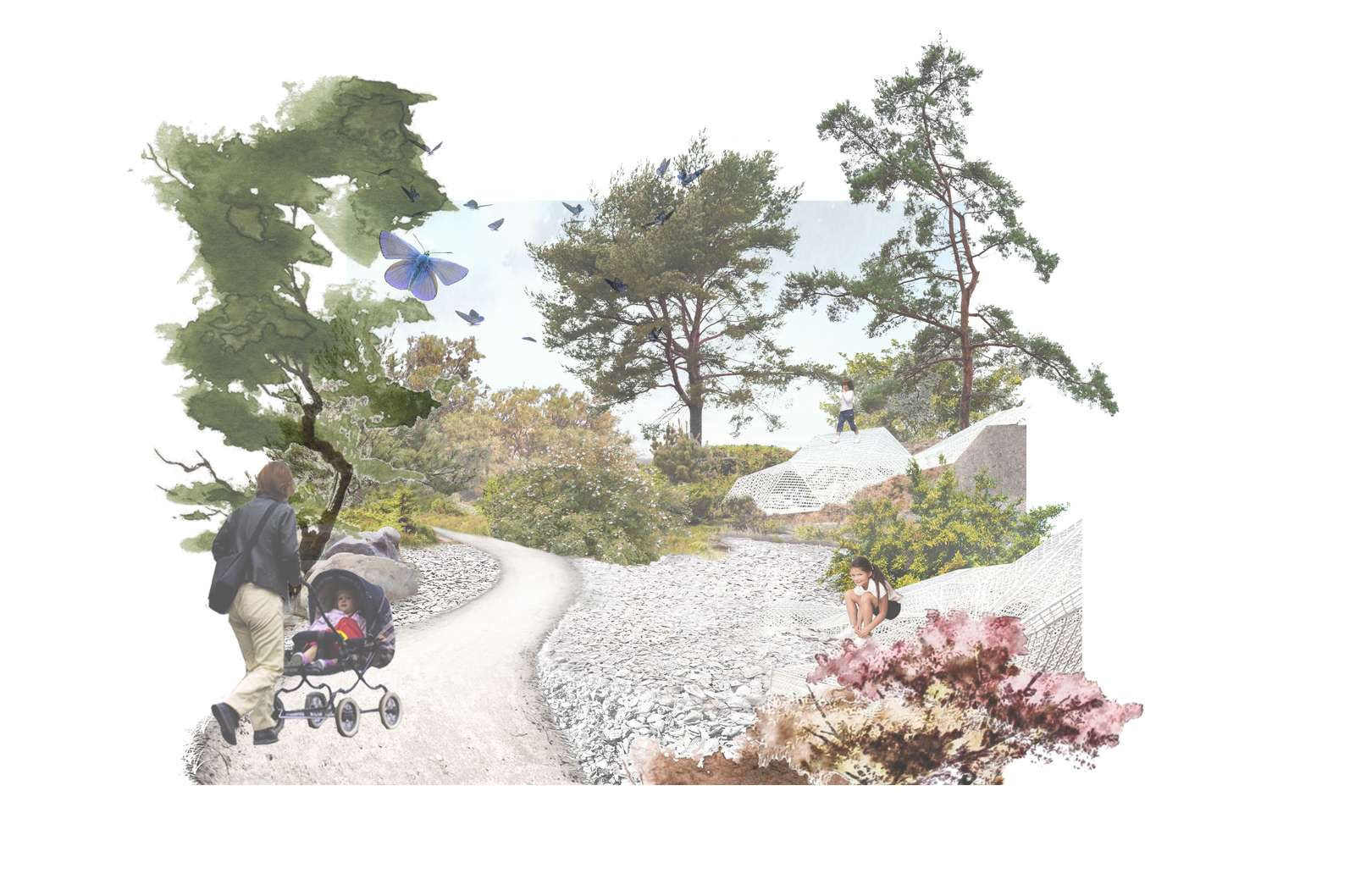 Nu bliver den nye naturpark i Kanalbyen anlagt