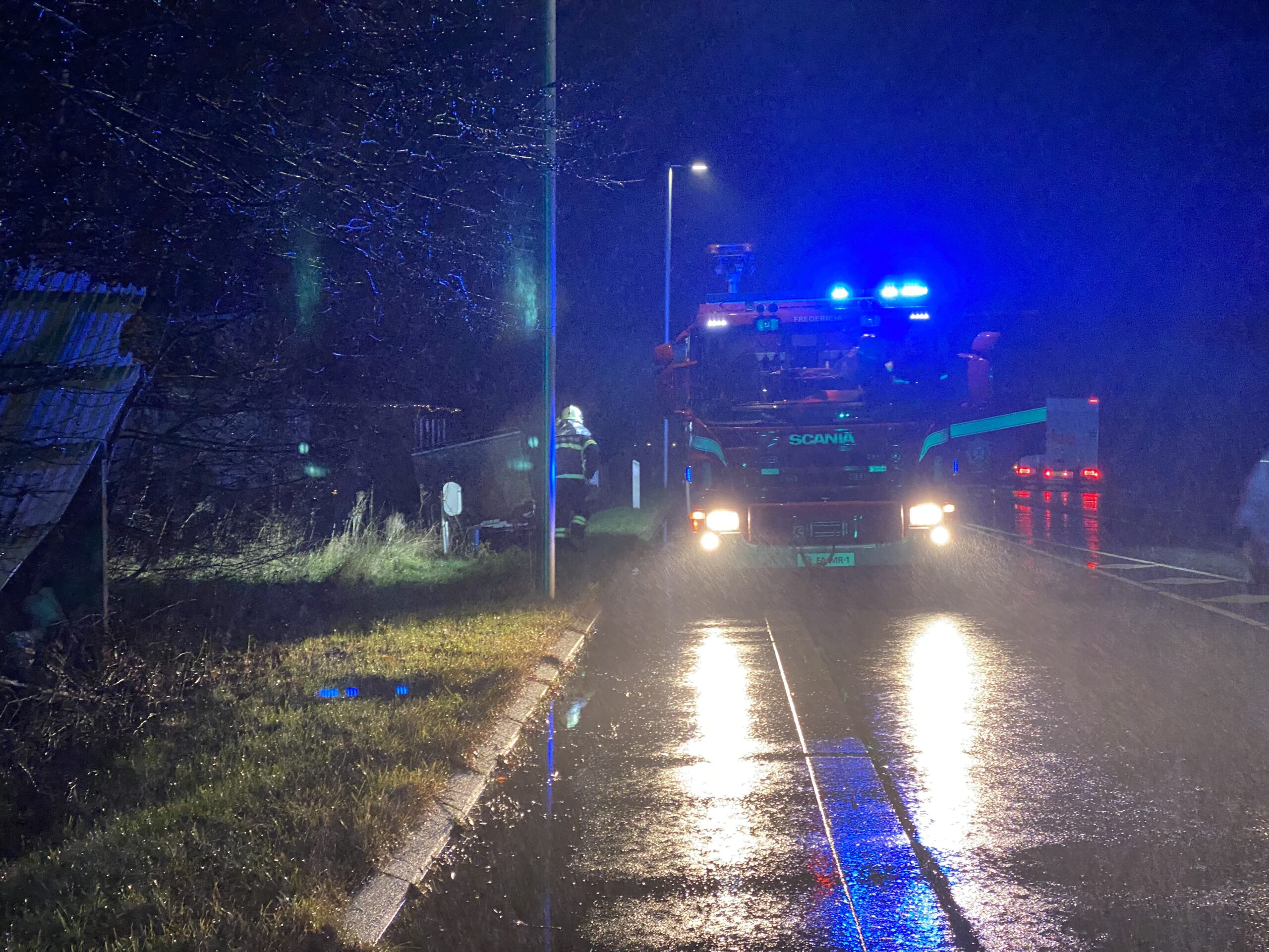 Brandvæsnet kaldt ud til mindre naturbrand i Taulov