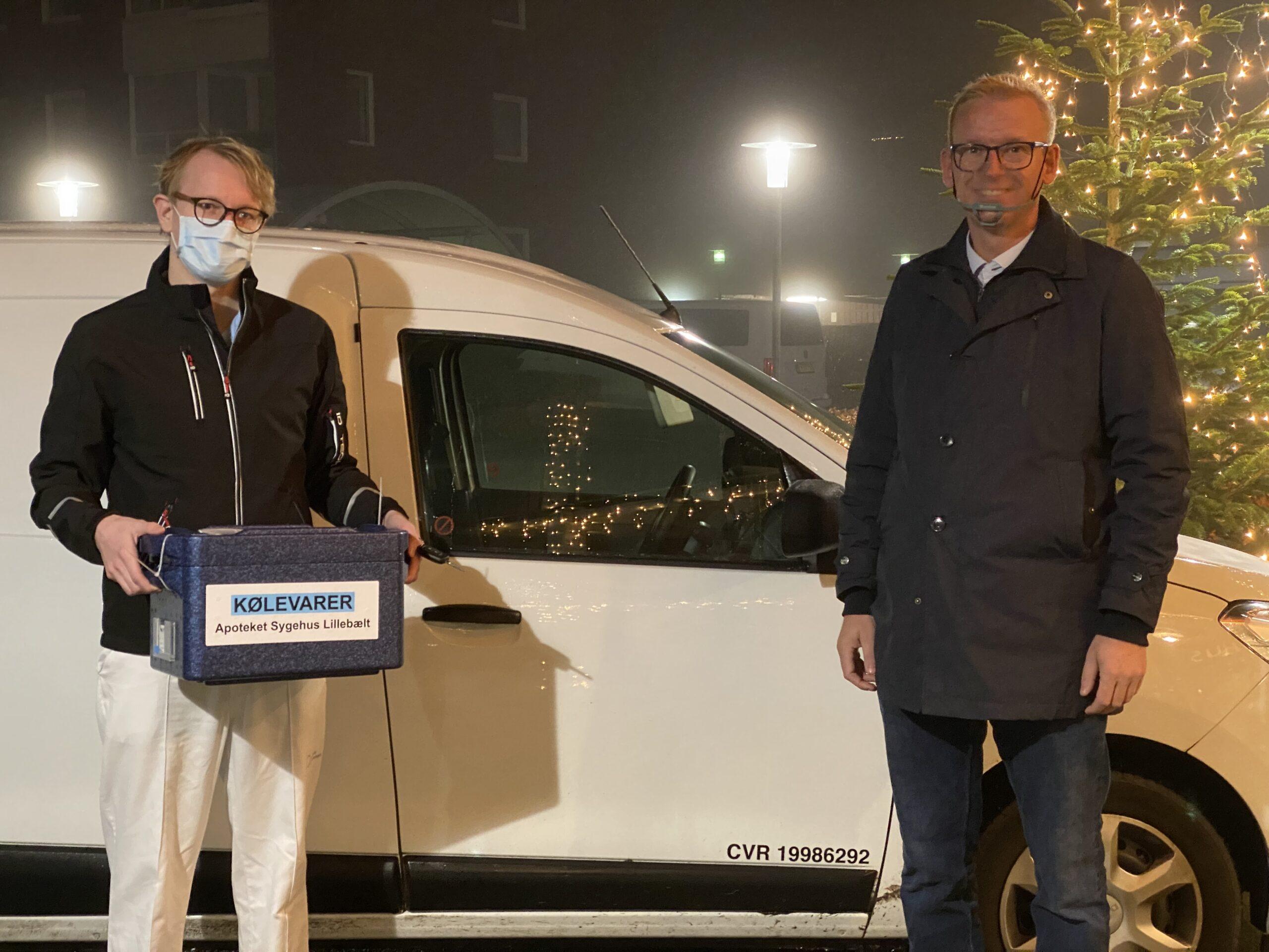 SE TV-INDSLAG: Vaccine ankommet til Fredericia – De første 130 beboere og ansatte vaccineres i dag